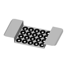 Supporto in acciaio inox per 20 provette per 2200/3200/3300