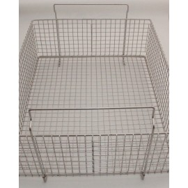 SONICA 90L rectangular stainless steel basket
