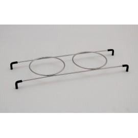 Supporto porta-bicchieri per 2 bicchiere 2200/3200 acciaio inox