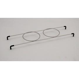 Supporto porta-bicchieri per 2 bicchiere 2400/3300 acciaio inox