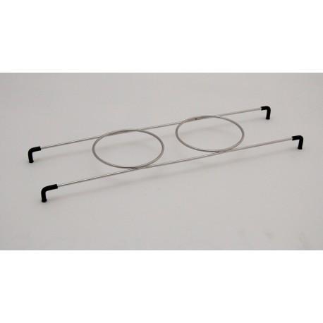 Holder 2 beaker stainless steel Mod. 2400/3300