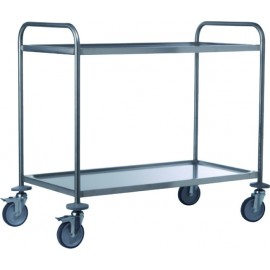 Two levels SS service trolley, 50x100x93,5cm