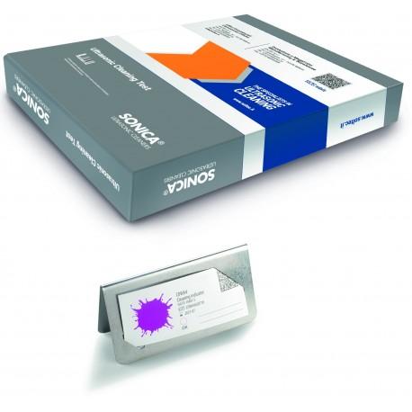 Ultrasonic cleaning test kit