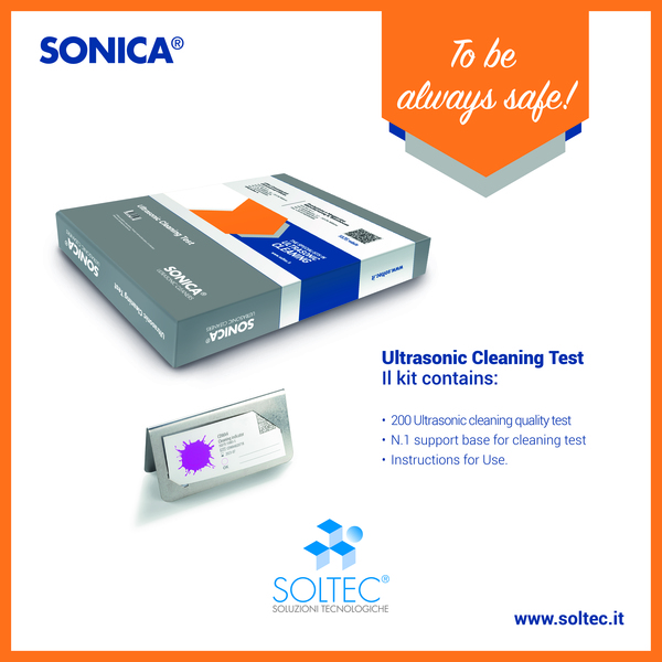 Ultrasonic cleaning test